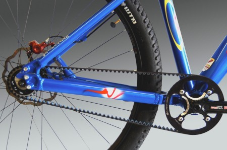 Gates Carbon drive system is an option for a Wac Corporal Mountain bike