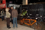 a slow moment at the Paketa Booth at NAHBS 2013