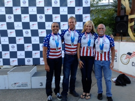 Team Radsport cleans up nationals with lot's of medals on Paketa Tandems